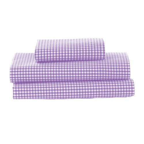 bkb Gingham Toddler Sheet Set, Lavender by bkb