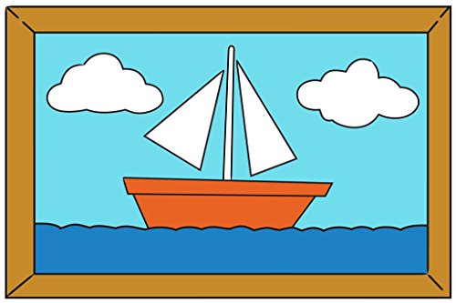 Sailboat Painting Over The Couch Cartoon TV Show Poster 36x24 inch