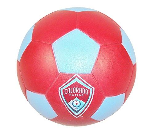 Foamheads Mini Indoor Outdoor Soccer Ball - MLS Licensed Colorado Rapids.