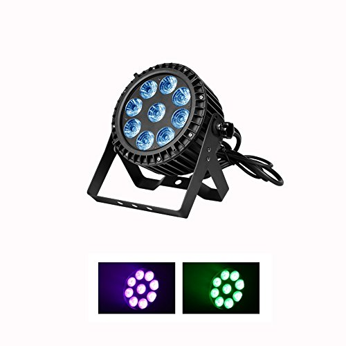 Boulder LED Par Waterproof IP65 Outdoor 9x15w RGBWA 5in1 Wash Stage light DMX512 for TV studio, theater, auditorium, stage, T-stage, concerts … … - Dmx 512 Outdoor Wash