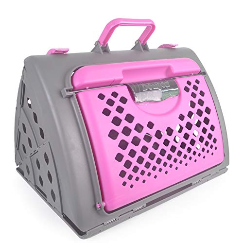 Pink Magshion Pet Carrier Travel Kennel Cage Bed Crate Car Kennel for Cat Small Dogs Rabbit (Pink)