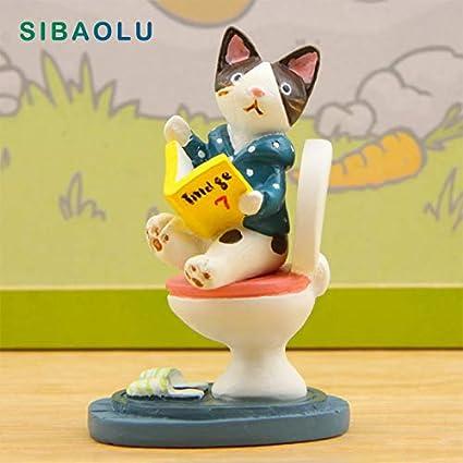 Yellow Cat Kitty Lifelike Dollhouse Fairy Garden Terrarium Figurine Decor Toy