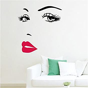 Womens Face Star Decor Nice Sticker Removable Wall Stickers Home Art Bedroom Living Room Sofa TV Background DIY