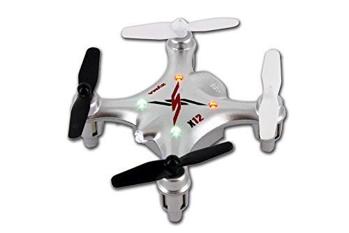 Tenergy Syma X12 Nano 6-Axis Gyro 4CH RC Quadcopter (SILVER)