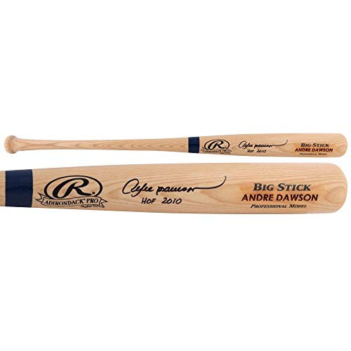 (Andre Dawson Chicago Cubs Autographed Blonde Rawlings Big Stick Bat with