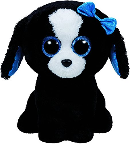 Dog Beanie Plush (Ty Tracey Dog Plush, Black/White, Regular)