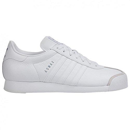 2d50843e837b3 adidas Originals Men's Samoa Retro Sneaker,White/Silver,10.5 D - Import It  All
