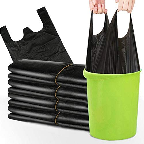 Trash Bags Small Size with Handle, 200 Pieces of Garbage Bags Small Size