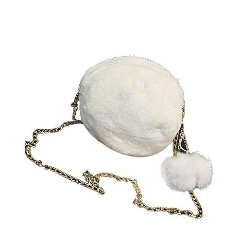 la el de caramelo felpa colorea mujeres Morwind hombro de lindo Negro El Blanco bonito bolso de las bolso 6wpOY