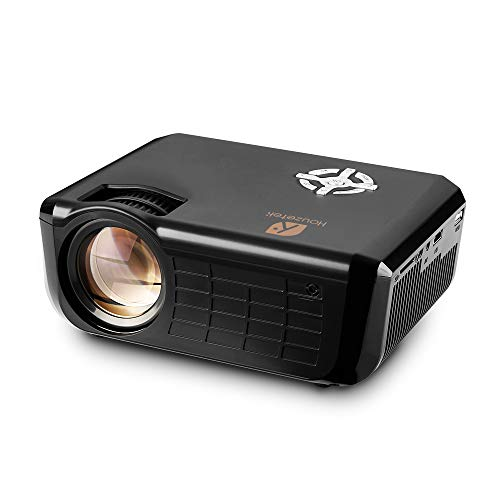 - Video Projector, Houzetek 2500 Lumens Multimedia Home Theater Video Projector Support 1080P HDMI USB SD Card VGA AV for Home Cinema TV Laptop Game iPhone Andriod Smartphone with HDMI Cable