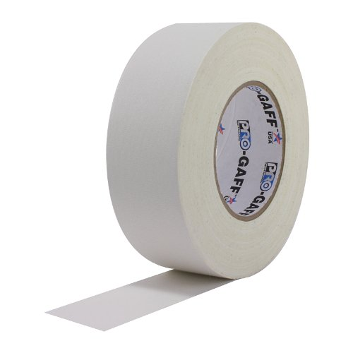 ProTapes Pro Gaff Premium Matte Cloth Gaffers Tape With Rubber Adhesive, 11 mils Thick, 55 yds Length, 2 Width, White (Pack of 1)