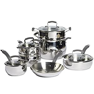 Epicurious Aluminum Nonstick 11-Piece Cookware Set in Copper