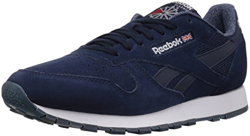Reebok Men CL Leather NM Fashion Sneaker Collegiate Navy/White