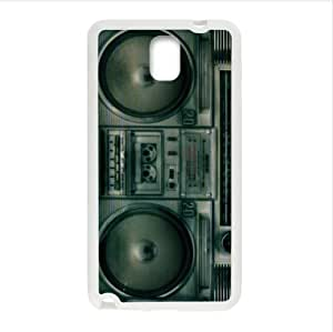 Best Custom Nostalgia Case,Retro Boombox(Vintage Boombox) Samsung Galaxy Note 3 III TPU (Laser Technology) Case, Cell Phone Cover