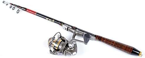 docooler 1.8M 5.91FT Telescopic Fishing Rod Travel Spinning Lure Rod Raft Pole Carbon Fiber
