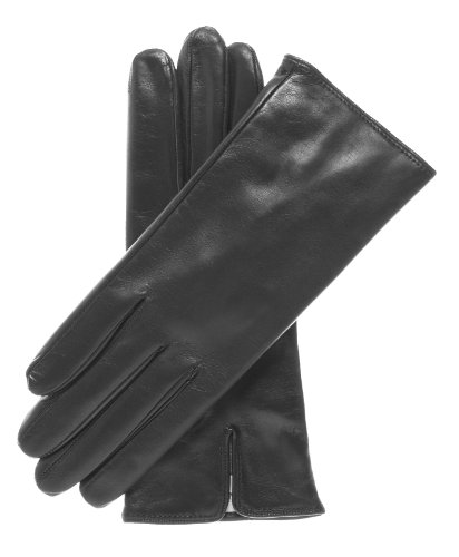 Fratelli Orsini Women's Italian Cashmere Lined Leather Gloves Size 8 Color Black -
