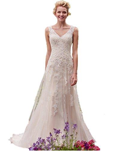 Schulter V Elfenbein Perspektive Ausschnitt Braut Tank Elegant Hochzeitskleider Kleider Brautkleid Tüll Strand Hochzeitskleid Zurück CoCogirls qSn1tWwd1