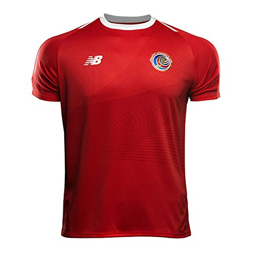 (New Balance Costa Rica Home Soccer Men's Jersey FIFA World Cup Russia 2018 (L) Red)