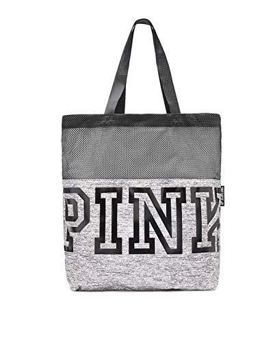 Victoria's Secret Pink MESH Tote Bag Limited Edition Fall, Marl Grey (Vs Gym Pants)