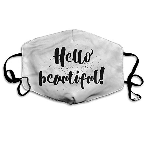 Hello Fashion Mouth Mask Hand Letters Tiny Dots for Cycling Camping Travel W4