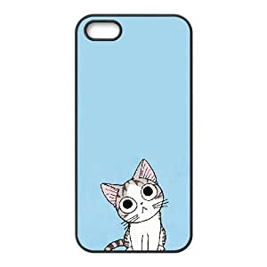 Iphone 5,5S 2D DIY Hard Back Durable Phone Case with Cute adorable cats Image