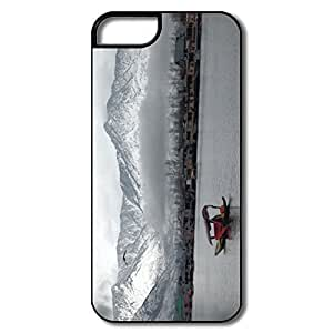 IPhone 5 Covers, Silver Mountains Cases For IPhone 5/5S - White/black Hard Plastic