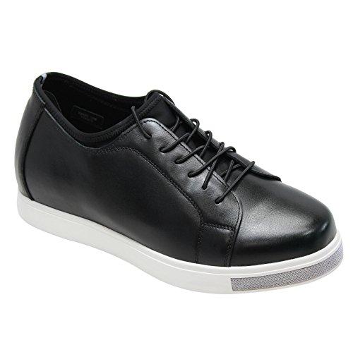 CALTO Black Sneakers 2 Synthetic Inches 4 Men rO1pYxqnr