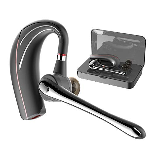 Bluetooth Headset, HandsFree Wireless Earpiece V5.0 with Mic for Business/Office/Driving Call [New Version]