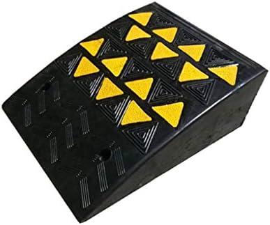 機械車両スロープ、屋外エンジニアリングカースロープハイウェイ安全減速スロープ/黒黄柄付き (Color : Black+Yellow, Size : 40*49*19cm)