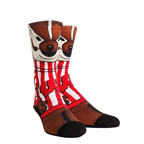 NCAA Super Premium College Fan Socks (L/XL, Wisconsin Badgers - Mascot Bucky)