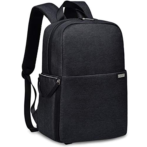 CADEN DSLR SLR Camera Bag Backpack with 14″ Laptop Compartment Waterproof for Women Men Photographers, Camera Case Backpack for Nikon Sony Canon Mirrorless Cameras Tripod Accessories