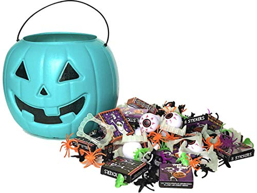 Halloween Allergy-Friendly Teal Pumpkin Trick-Or-Treat Hand-Out Pail Bundle