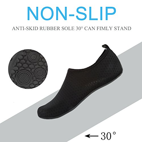 All Socks Snorkeling Mesh Women Shoes Shoes Beach Water Black Aqua for Sport Surf EASTSURE Yoga Swim Men d4BY61nY