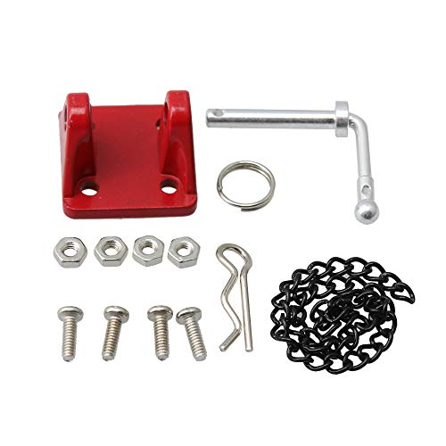 BQLZR Red RC 1:10 Scale Metal Tow Shackle Trailer Hook Set FZ0036 for Rock Crawler Model Car Part Accessory