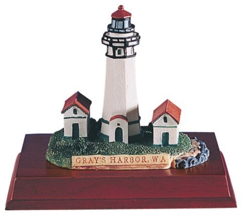 SUMMIT BY WHITE MOUNTAIN Lighthouse Gray's Harbor Wa Collectible Statue ()