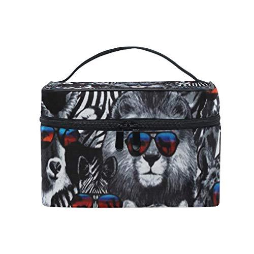 Toiletry Bag Multifunction Cosmetic Bag Portable Toiletry Case Waterproof Travel Organizer Bag for Women Girls Wildcats Black ()