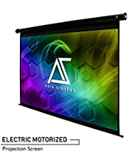 """Akia Screens 104"""" Motorized Electric Projector Projection Screen, 4:3, 8K 4K Ultra HD 3D Ready Wall/Ceiling Mounted, 12V Trigger, Remote, Manufacturer Warranty with Chat Service, AK-MOTORIZE104V1"""