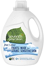 Seventh Generation Laundry Detergent for clean and fragrance-free clothes Free & Clear for sensitive skin