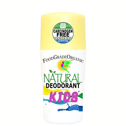 KIDS 100% Natural Organic Healthy Roll On Deodorant for Children Healing Detox Aluminum-Free Carcinogen Free Certified Vegan Paleo Keto Rollon non-toxic no chemicals
