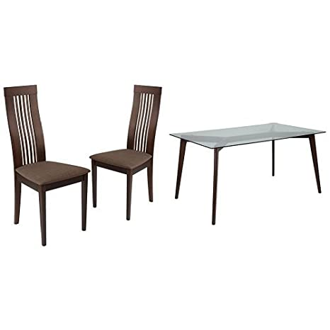Amazon Com Flash Furniture Arcadia 5 Piece Espresso Wood Dining