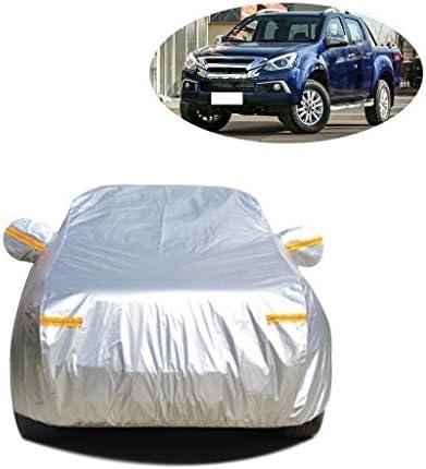 車のカバー いすゞD-MAX防雨カーカバー防水フル・エクステリアの防塵に対するスクラッチサンプロテクション屋外のフルガレージカー防水シートカバーと互換性 (Color : Silver Oxford)