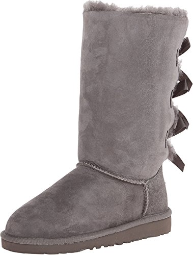 UGG Children's Bailey Bow Tall Boot Little Kids,Grey,US 4 M by UGG