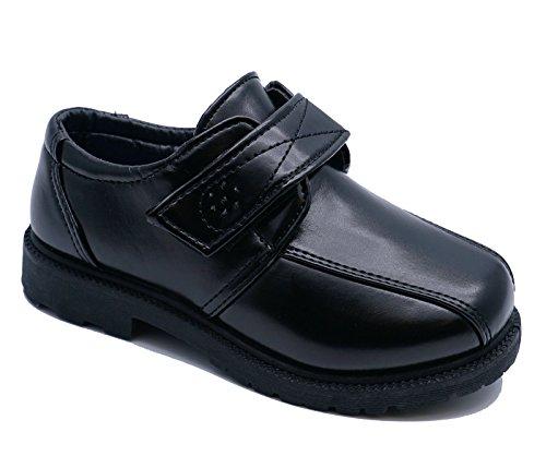 HeelzSoHigh Jungen Kinder Junior Schwarz Schulanfang Zum Reinschlüpfen Smart Uniform Kinder Bequeme Schuhe Größen 8-3