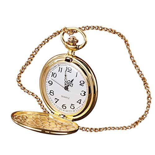 HunYUN 4.6cm Luxury Personality Fashion Retro Large Pocket Watch Engraved Quartz Pocket Customized Watch