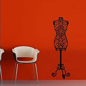 Wall Decal Decor Decals Art Dummy Hanger Clothes Shop Fitting Sewing Studio (M638) by DecorWallDecals