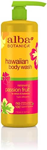 Alba Botanica Hawaiian, Passion Fruit Body Wash, 24 Ounce