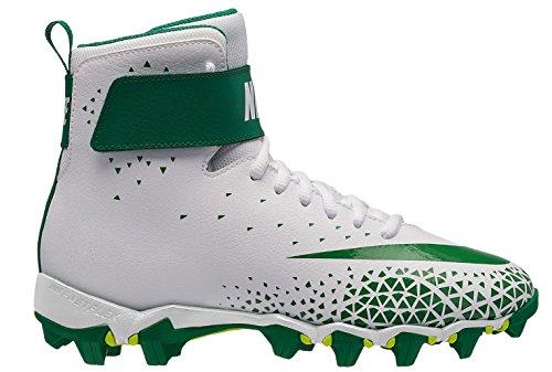 Nike Kids' Force Savage Shark Football Cleats (3.5, White/Green)