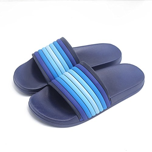 amp;Outdoor Bathroom Slipper Summer for Pool Casual Anti Lightweight Blue Men Slippers Slippers Women AODEW Indoor Slip Soft qnWS4HZU