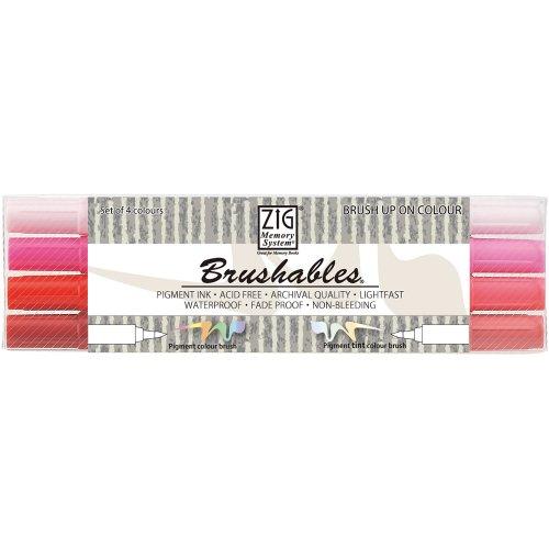 (Kuretake Brushables Dual Tip Markers, Red )