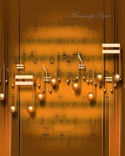 ank Sheet Music Composition Notebook, Staff Paper, Musicians Book, 8